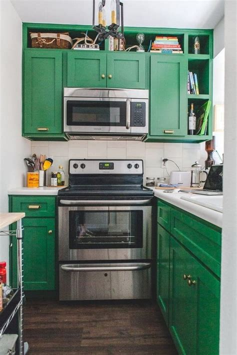green kitchen cabinet 80 cool kitchen cabinet paint color ideas