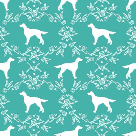 design pattern getter setter irish setter floral silhouette dog fabric pattern
