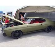 71 Chevelle Army Green Black Trim 454 With Red Interior