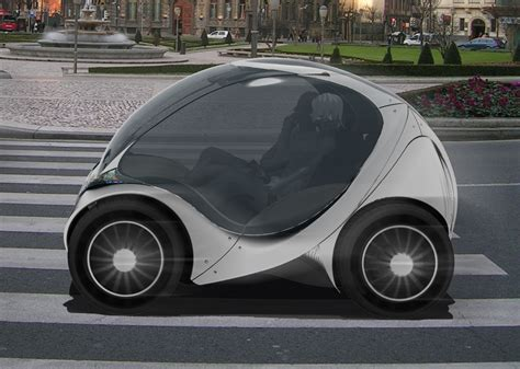 smallest width car seat tiny electric car folds up into itself for easy parking