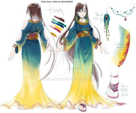 Gamis Fashion Aprodita Dress sketch hera by zeldacw on deviantart