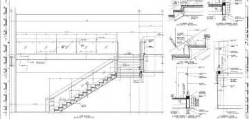 treppe schnitt architectural details stairs