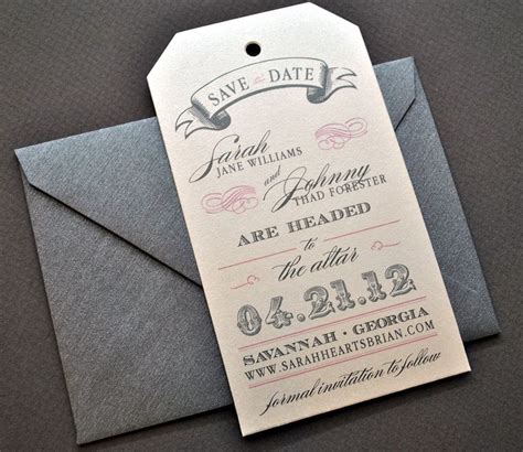 luggage tag invitation template miranda vintage luggage tag wedding save the date