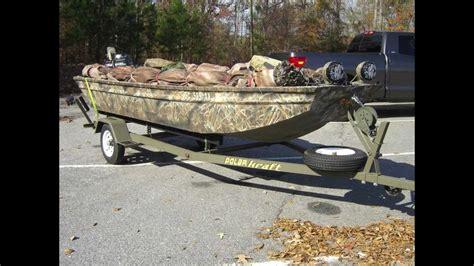 duck hunting jon boat build polar kraft duck boat build youtube