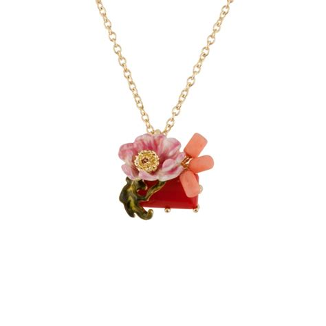 Flower Jewelry Necklace Pink by Pink Flower And Necklace