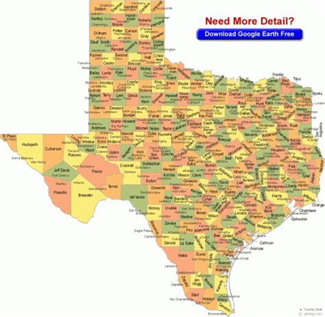 texas country map county map of texas nature in the news