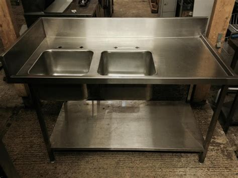 Secondhand Catering Equipment Double Sinks 1450 X 760 Used Kitchen Sinks For Sale