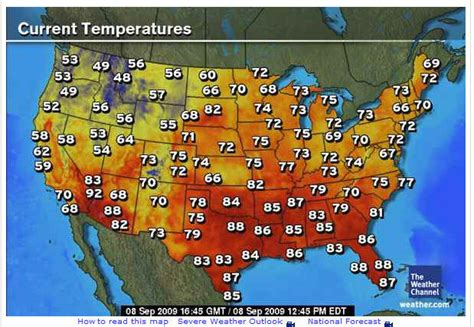 current temperature map us weather map current temperatures maps of usa