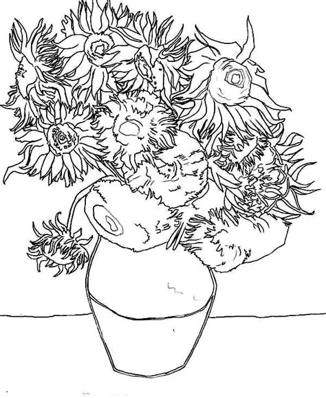 Van Gogh Coloring Pages Coloring Pages Gogh Coloring Page