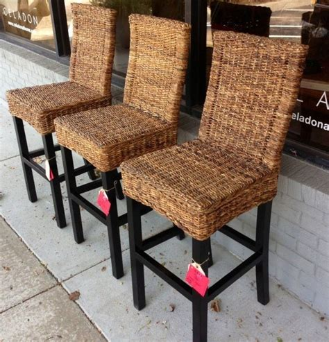 seagrass banana leaf or rattan bar stools with backs best 25 seagrass bar stools ideas on at home
