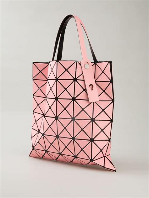 Bao Bao Bag lyst bao bao issey miyake prism open top tote in pink