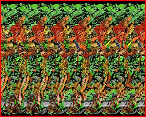 como hacer imagenes ocultas en 3d arte para los amigos stereogramas o las formas 3d escondidas