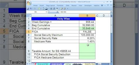 using microsoft excel to calculate payroll liabilities like payg