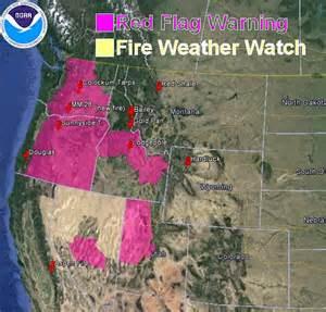 flag warnings and wildfire smoke map july 31 2013