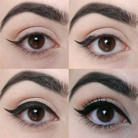 eyeliner tutorial for different eye shapes eyeliner design for rounder eyes makeup mania