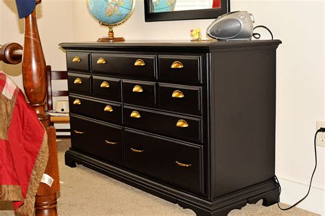 Bedroom Dresser Handles Bedroom Artistic Black Wooden Dresser With Drawers And Copper Handle For Interior