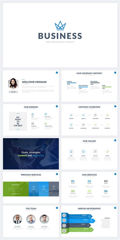50 Best Free Cool Powerpoint Templates Of 2018 Updated Free Business Powerpoint Template