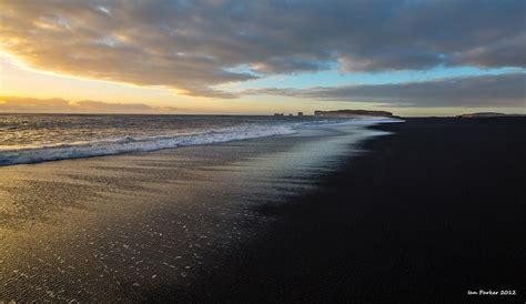 black sand 3 5 evanescent light iceland sea
