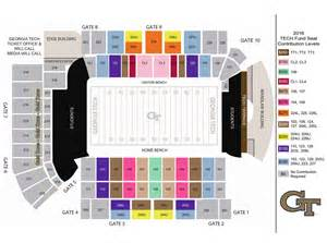 tech stadium map ramblinwreck the tech yellow jackets