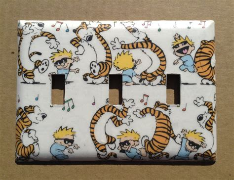decoupage light switch covers calvin and hobbes light switch cover switchplate decoupage