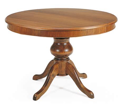 tavolo rotondo classico tavolo rotondo classico in legno colore noce con gambone