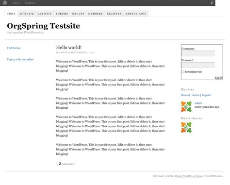 thesis child themes buddypress and thesis together at last wpmu dev