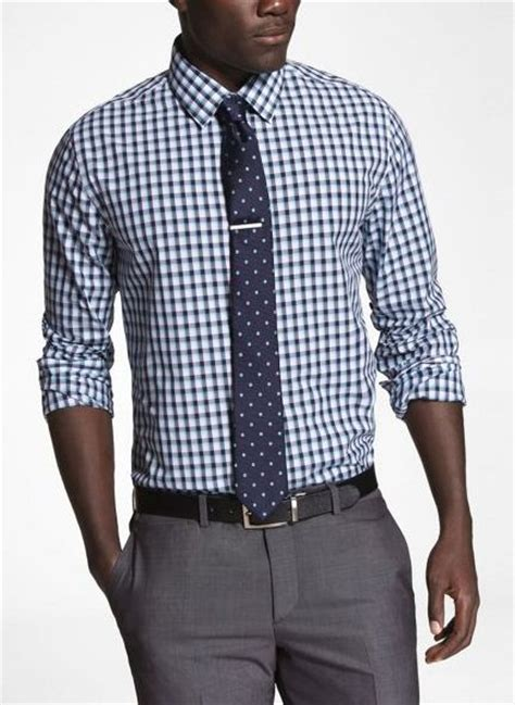 pattern shirt and tie combo pattern lime navy micro check shirt with pindot tie with