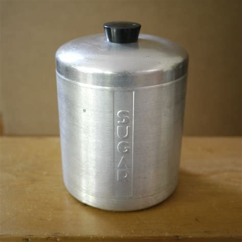 vintage kitchen canisters flour sugar containers storage vintage aluminum kitchen canister set retro mid century