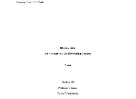 apa format title page template apa format title page template