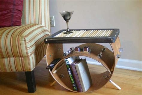 Upcycled Bass Drum And Used Drumsticks Side Coffee Table Bass Drum Coffee Table