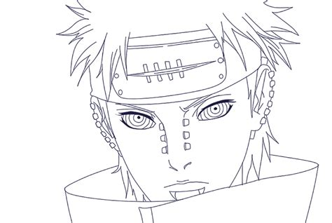 pain naruto coloring pages six paths of pain coloring pages