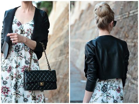 Tas Fashion Chanel Maxi Medium Classic transitional maxi floral dress leather jacket lace up sandals meagan s moda