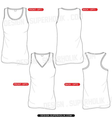 women s tank top template hellovector