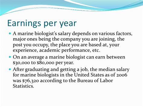 Average Salary Marine Biologist by Marine Biologist