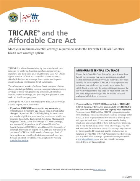 the affordable care act ppt download tricare and the affordable care act