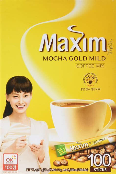 Maxim Korean Coffee maxim white gold instant coffee 100pks