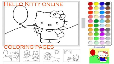 hello kitty coloring pages youtube hello kitty online coloring pages game for kids kitty