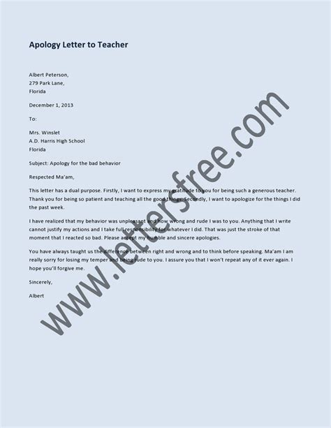 Apology Letter Copy 1000 Images About Sle Apology Letters On