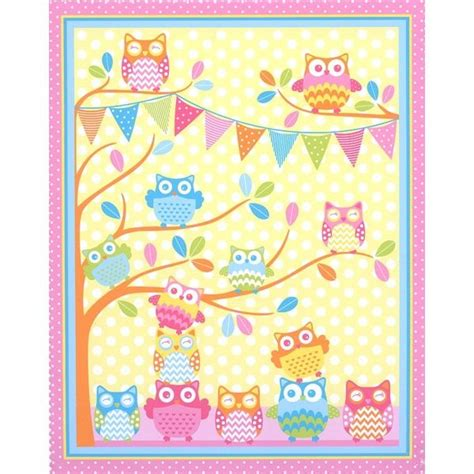 Owl Quilting Fabric by Gelati Owl Novelty Owls Benartex Craft Fabric Kit 69 95