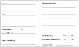 idea template templates healthcare kaizen
