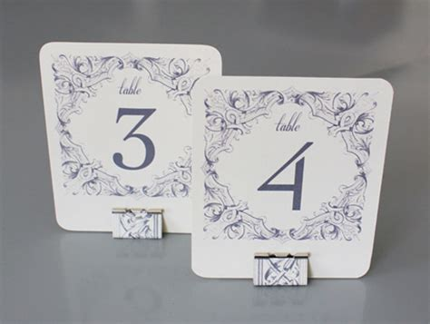 place card holder template diy binder clip table card holders