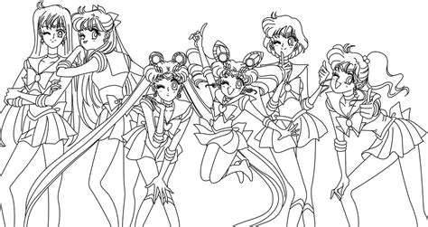 stout design len sailor moon manga coloring pages murderthestout