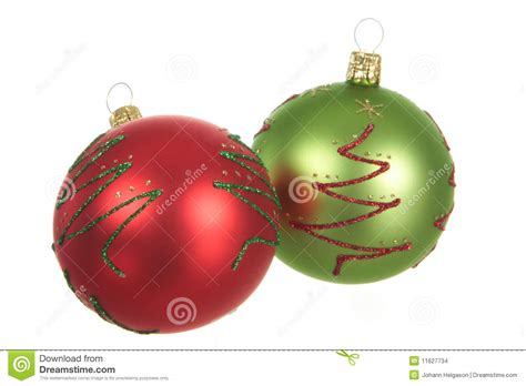 red and green christmas balls stock images image 11627734
