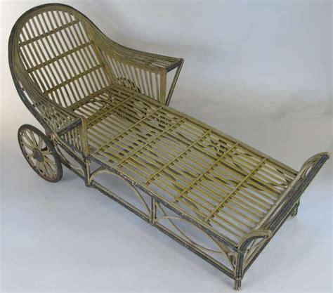 antique wicker chaise lounge antique wicker chaise lounge at 1stdibs