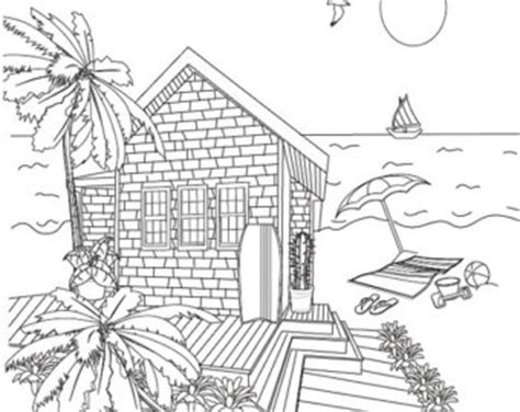 beach house coloring pages sheep with beach ball summer coloring page coloring