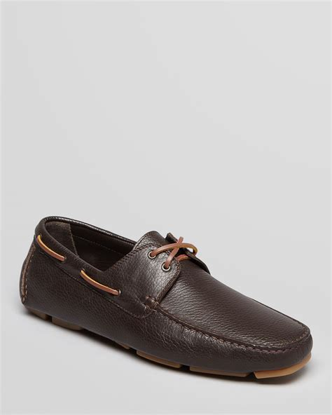 boat shoe loafers bruno magli eblan pebbled leather boat shoe driving