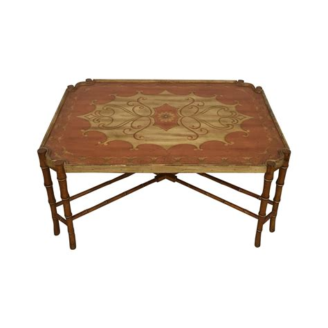 faux bamboo coffee table vintage faux bamboo coffee table chairish