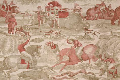 toile drapery fabric 5 3 yards beacon hill tulasi toile printed linen cotton