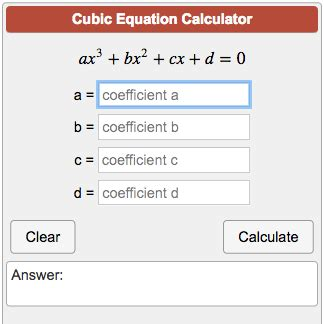 calculator equation cubic equation calculator