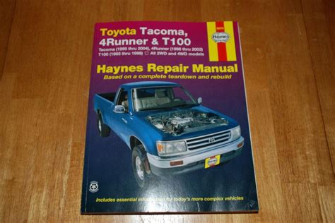 service and repair manuals 1993 toyota 4runner auto manual sell toyota tacoma 4runner t100 haynes repair manual motorcycle in saint petersburg florida